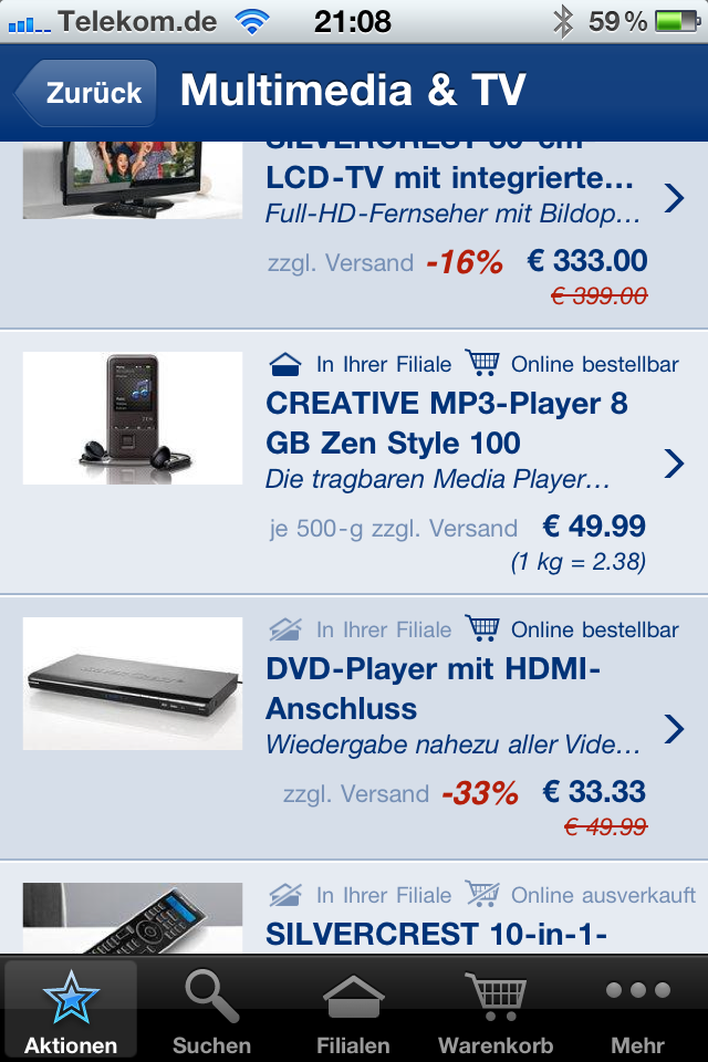 Lidl MP3 Player zum Kilopreis