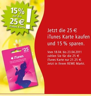 itunes karten bei rewe mit 15 rabatt kostenlose apps f r iphone ipad. Black Bedroom Furniture Sets. Home Design Ideas
