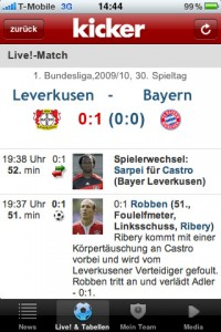 kicker online für iPhone