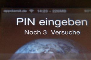 iPhone 4 PIN eingeben
