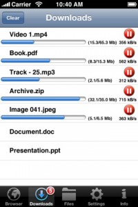 iDownloader Pro für iPhone